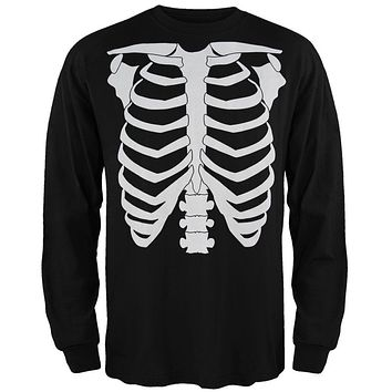 Skeleton Glow In The Dark Costume Long Sleeve T-Shirt