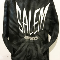 Salem Black Tie Dye Hooded Sweatshirt