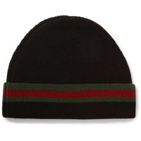 Gucci - Striped Wool and Silk-Blend Beanie Hat | MR PORTER