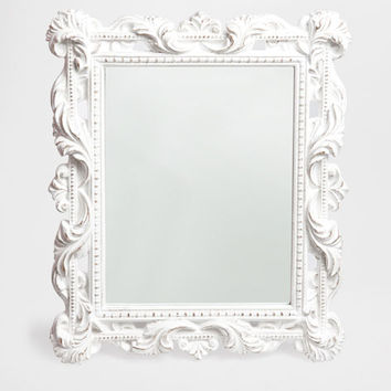 RECTANGULAR WHITE MIRROR - Mirrors - Decor and pillows | Zara Home United States