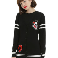 DC Comics Harley Quinn Heart Girls Cardigan