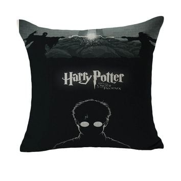 Harry Hogwarts Potter Order Of Phoenix Minimalist Massager Pillow Case Decorative Vintage Pillows Cover Home Decor Gift