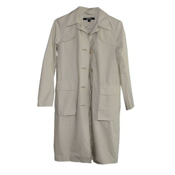 DKNY Tan Trench Coat, Donna Karan, Patch Pockets