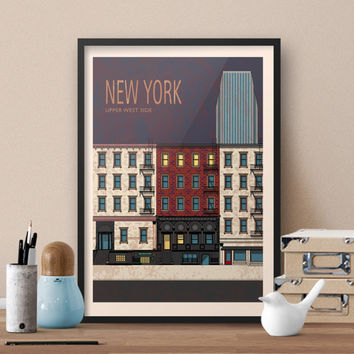 Minimalistic HIMYM Poster - How I Met Your Mother TV show themed New York Travel Poster - Vintage style New York Travel Poster feat. HIMYM