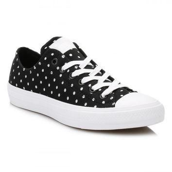 Converse All Star Chuck Taylor II Black/White Shield Trainers