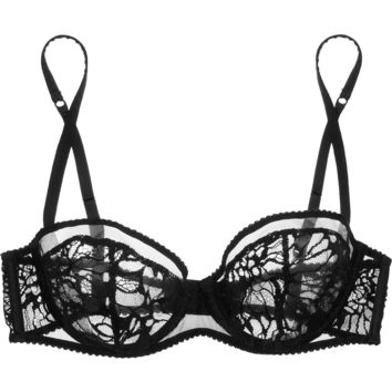 Kiki de Montparnasse - Grand Fleur lace and stretch-tulle underwired bra