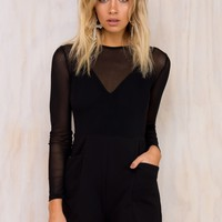 Mia Mesh Playsuit