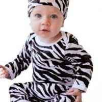 4pc Bodysuit and Hat Set - Animal Prints Funky Baby Clothes (18-24 Months, Cheetah)