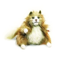 Folkmanis Puppet Fluffy Cat: Toys & Games