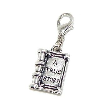 """AUGUAU Jewelry Monster Clip-on """"Dangling A True Story Book"""" Charm 18397"""