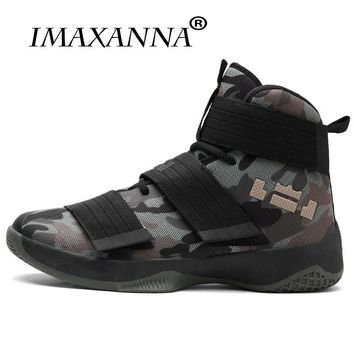 IMAXANNA 2018 Basketball Shoes For Men  Hombre Ultra Green Boost Camouflage Basket  Shoes Unisex Star Sneakers Ball Super