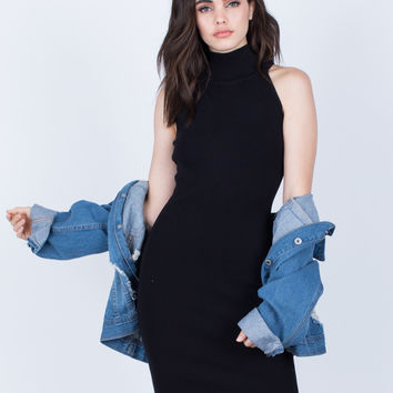Simple Turtleneck Dress