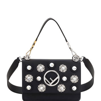 Fendi Kan I Small Leather Shoulder Bag with Seal