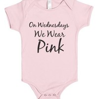 On Wednesdays we wear pink-Unisex Light Pink Baby Onesuit 00