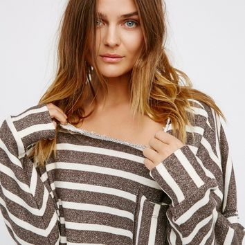 Free People Zuma Pullover Brown