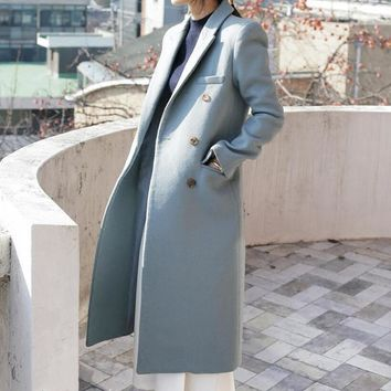 English Coast Overcoat, Warm Jacket. Professional Dress Coat.
