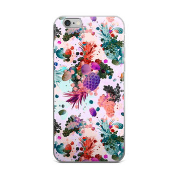 Burst Of Pineapples & Grapes Painting iPhone 4 4s 5 5s 5C 6 6s 6 Plus 6s Plus 7 & 7 Plus Case