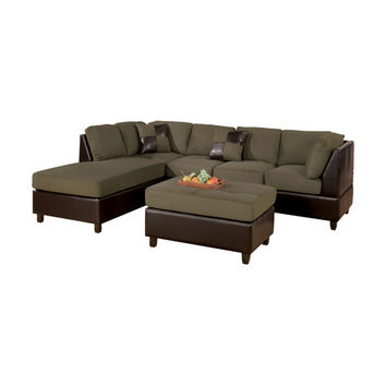Poundex Kona Modular Sectional with Ottoman