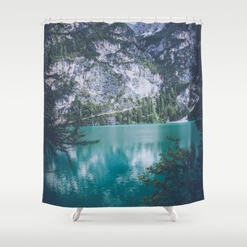 Peer Through Shower Curtain by Gallery One