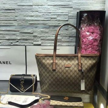 PEAP9IW Year-End Promotion 3 Pcs Of Bags Combination (Gucci Bag ,YSL Mid Bag ,Gucci Wallet)