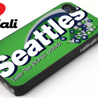 Seattle Skittle Seahawk iPhone 4/4s, 5, 5s, 5c, Samsung S2, S3, S4, iPod 4, 5