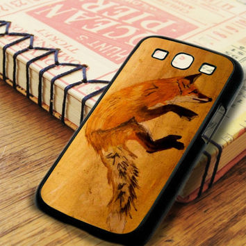 Wood Orange Fox Samsung Galaxy S3 Case