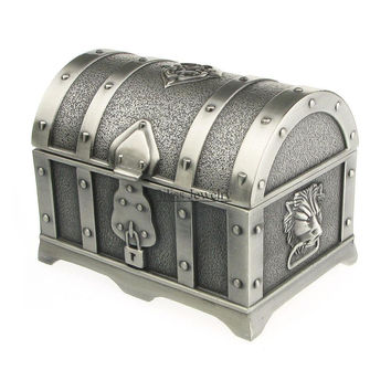 Pirate Chest Shape Alloy Metal Jewelry Case Pirates of the Caribbean Jewelry Box Gift Boxes