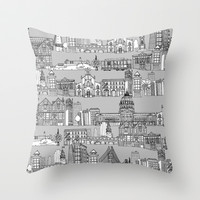 San Francisco Throw Pillow by Sharon Turner
