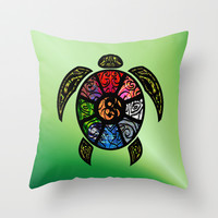 Bagua Turtle Throw Pillow by Jan4insight