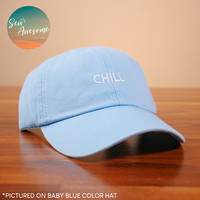 Chill Dad Hat, Funny Embroidered Baseball Cap, Best Friend Baseball Hats, Cute Dad Hats, Girlfriend Gift