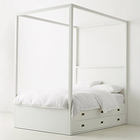 Avalon 6-Drawer Storage Canopy Bed