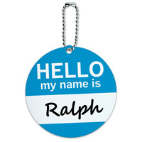 Ralph Hello My Name Is Round ID Card Luggage Tag