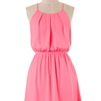 Summer Halter Dress - Pink