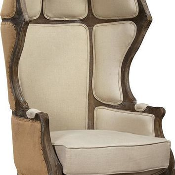 Hooded Wingback Chair