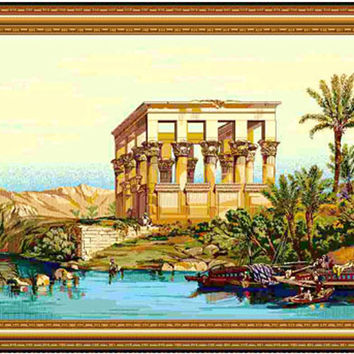 Temple of Philae Tapestry Wall Hanging