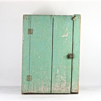 Primitive Jelly Cupboard, Farmhouse Cupboard, Farmhouse Decor, Primitive Cabinet, Primitive Jelly Cupboard, Green Cabinet, Old Cabinet