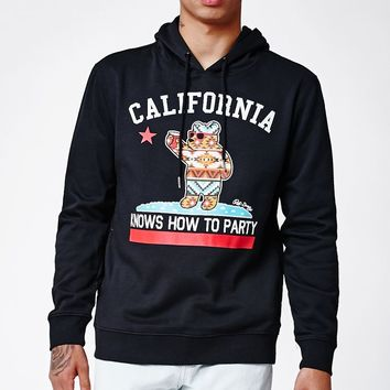 Riot Society California Knows How To Party Tribal Hoodie - Mens Hoodie - Black
