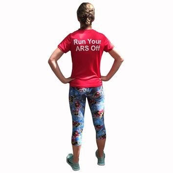 Maryland Blue Crab Athletic Running Capri Tights