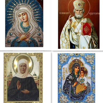 5D Diamond embroidery painting of   Religious People For Home Decoration