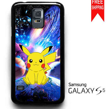 Pikachu Pokemon Space Galaxy Nebula Samsung Galaxy S5 Case
