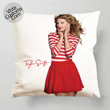 Taylor Swift so Cute pillow case, cover ( 1 or 2 Side Print With Size 16, 18, 20, 26, 30, 36 inch )