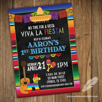 Fiesta Birthday Party Invitations