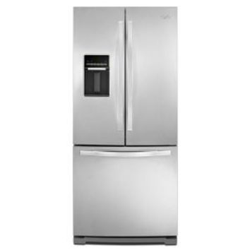 Whirlpool, 30 in. W 19.7 cu. ft. French Door Refrigerator in Monochromatic Stainless Steel, WRF560SEYM at The Home Depot - Mobile