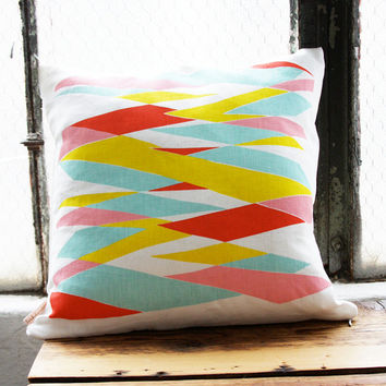 SALE Highway Pillow Cover 16 x 16