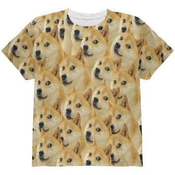 CREYCY8 Doge Meme Funny All Over Youth T Shirt