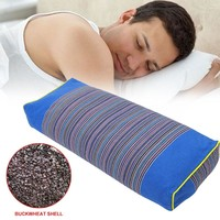 Buckwheat Hull Pillows Bed Sleeping Head Pad Flexible Scented Travel Body Neck Pillow Spice Sleep Aid Pillows 50*20*20CM