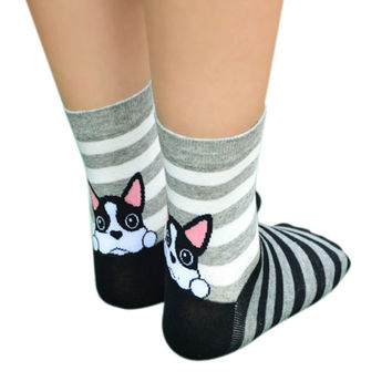 Women Socks Fashion 3D Print Low Socks Animal Dog Funny Casual Socks Xmas Socks Cotton calcetines meias