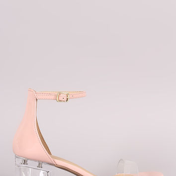 City Classified Lucite Band Blocked Perspex Heel