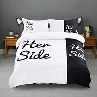 Her Side / His Side Bedding Duvet Cover Set