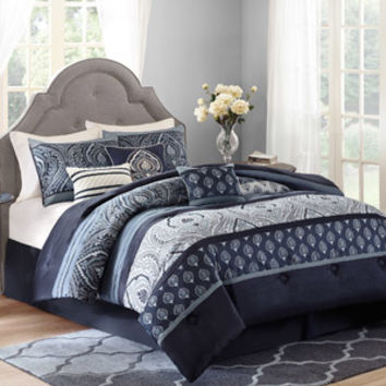 Walmart: Better Homes and Gardens Indigo Paisley 7-Piece Bedding Comforter Set